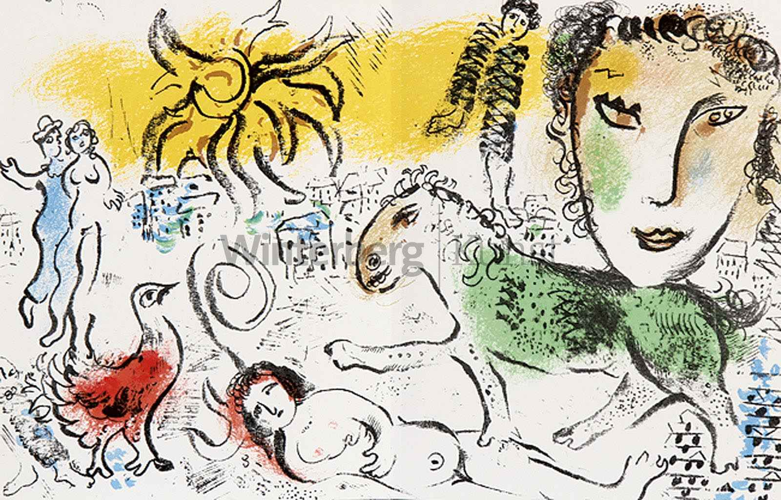 MARC CHAGALL Witebsk 1887 - 1985 Vence: Marc Chagall. Water Colors...